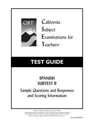 CSET: Multiple Subjects Practice Test Subtest I - CSETs