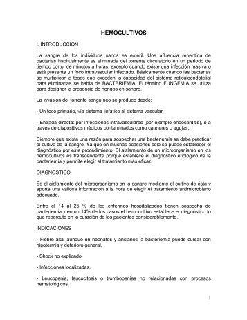 hemocultivos - Sociedad Andaluza de Microbiología y Parasitología ...