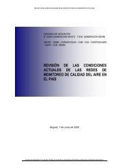 revisión de las condiciones actuales de las redes de monitoreo de ...