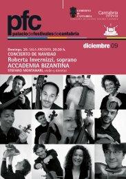 diciembre09 - Palacio Festivales Cantabria