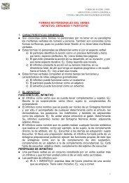 FORMAS NO PERSONALES DEL VERBO ... - Contraclave