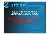 sistema de ventilación longitudinal en un túnel. influencia de un ...