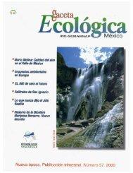 Gaceta Ecológica 57 - Instituto Nacional de Ecología
