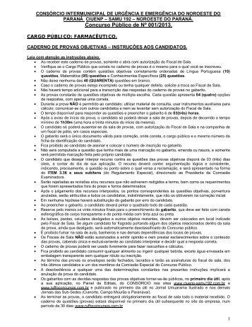 Prova - CIUENP - SAMU 192
