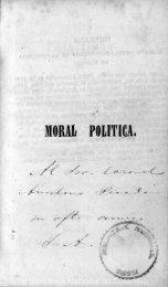 MORAL POLITICA.