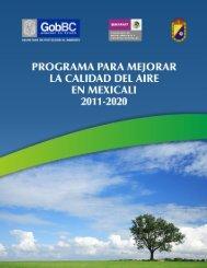 Programa para el Mejoramiento de la Calidad del Aire en Mexicali ...
