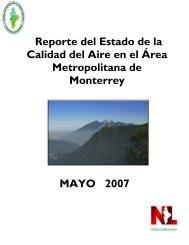 Reporte del Estado de la Calidad del Aire en el Área Metropolitana ...