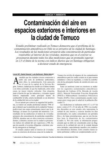 Contaminación del aire en espacios exteriores e interiores ... - Cipma
