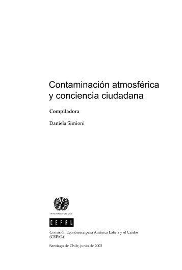 Contaminación atmosférica y conciencia ciudadana - Cepal