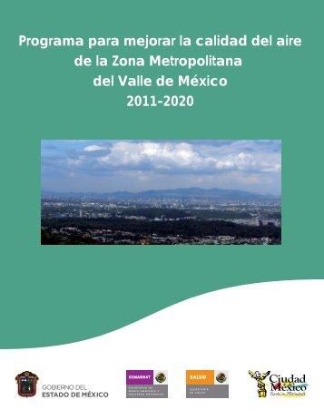Programa para mejorar la calidad del aire de la Zona Metropolitana ...