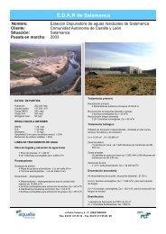 Ficha tecnica EDAR Salamanca - aqualia infraestructuras