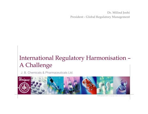 International Regulatory Harmonization - VPMThane org