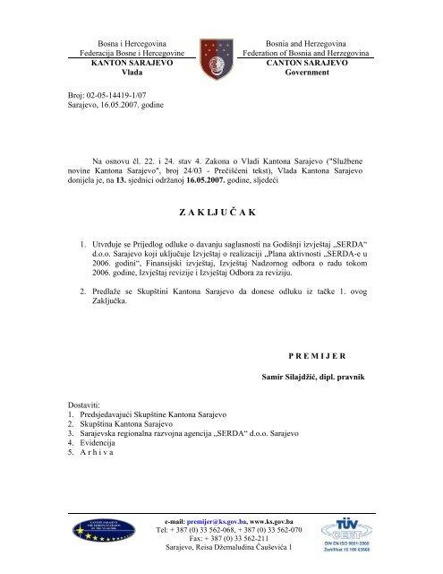 Sarajevo istocno licni kontakti Poslovne jedinice