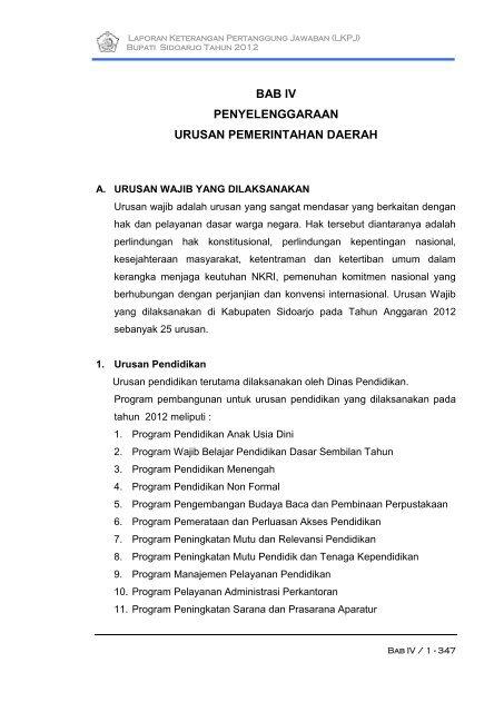 Bab Iv Administrasi Pembangunan Pemerintah Kabupaten