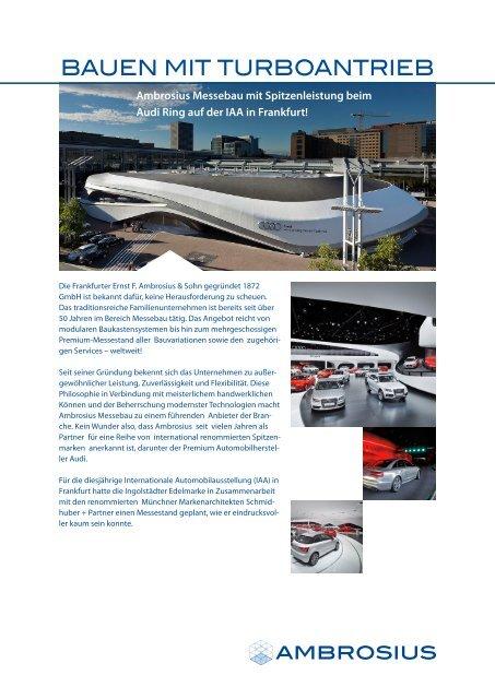 BAUEN MIT TURBOANTRIEB - Ernst F. Ambrosius & Sohn GmbH