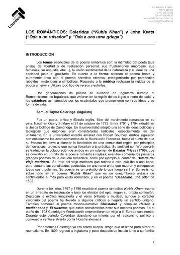 Antología de POETAS ROMÁNTICOS INGLESES