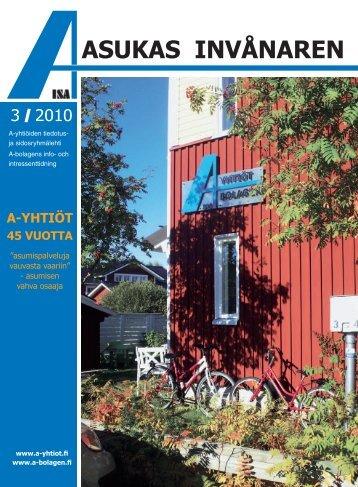 asukas invånaren - A-yhtiöt