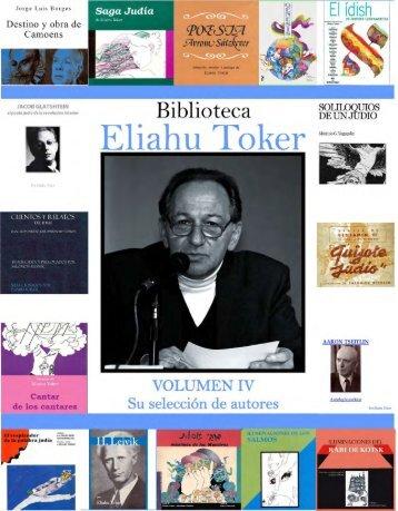 "Biblioteca ""Eliahu Toker"" Volumen IV"