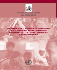 FREQUENTLY ASKED QUESTIONS ON A HUMAN RIGHTS-BASED ...