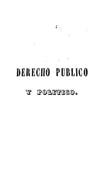DERECHO PUBLICO - Biblioteca de Historia Constitucional