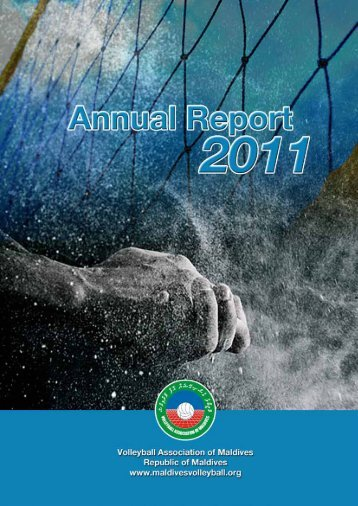 Annual Report 2011 - Volleyball Association of Maldives