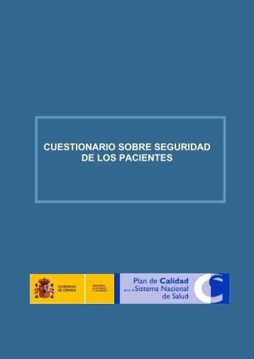 CUESTIONARIO SOBRE SEGURIDAD DE LOS PACIENTES