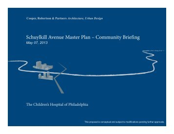 Schuylkill Avenue Master Plan – Community Briefing