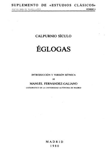ÉGLOGAS - InterClassica