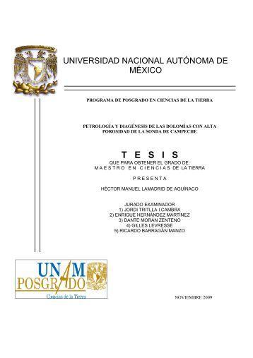 T   E   S   I   S - Centro de Geociencias ::.. UNAM