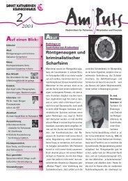 2/2003 - Sankt Katharinen-Krankenhaus