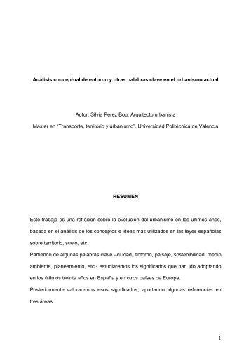 análisis conceptual de entorno y otras palabras clave en el ...