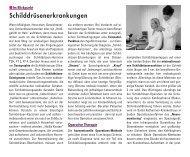 Schilddrüsenerkrankungen - Sankt Katharinen-Krankenhaus