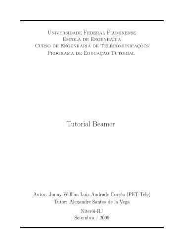 Tutorial Beamer - Departamento de Engenharia de Telecomunicações
