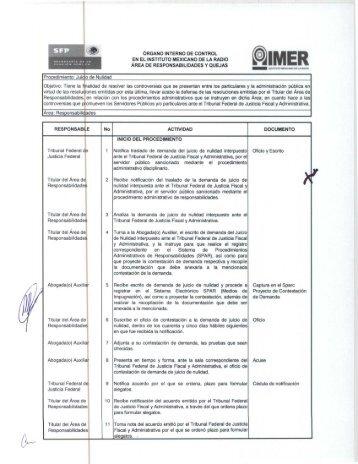 Juicio de nulidad - Intranet IMER - Instituto Mexicano de la Radio