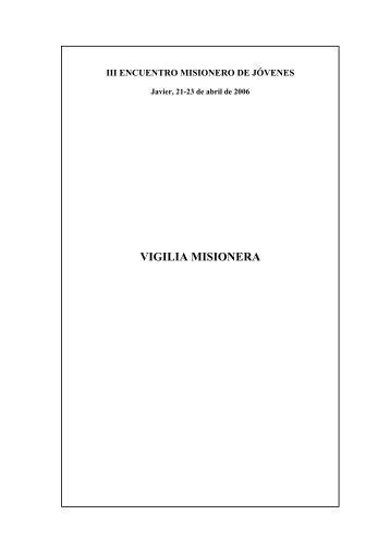 VIGILIA MISIONERA - Obras Misionales Pontificias