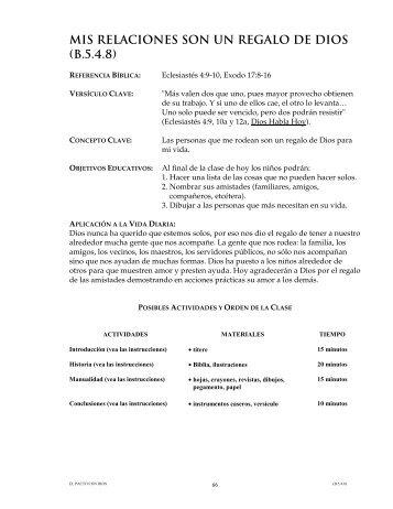 MIS RELACIONES SON UN REGALO DE DIOS (B.5.4.8)