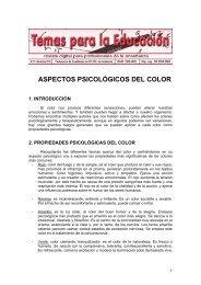 ASPECTOS PSICOLÓGICOS DEL COLOR - CCOO