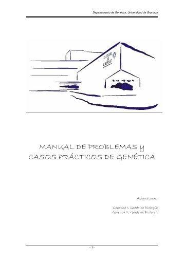 MANUAL DE PROBLEMAS y CASOS PRÁCTICOS DE GENÉTICA