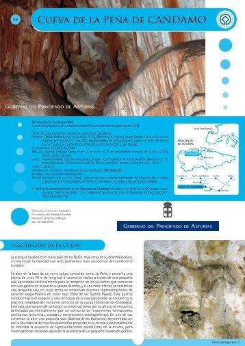 Guia cueva Peña Candamo.pdf - Centro de Arte Rupestre Tito Bustillo