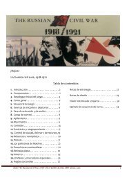 ¡Rojos! La Guerra civil rusa, 1918-1921 Tabla de ... - GMT Games