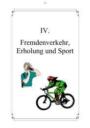 Fremdenverkehr, Erholung und Sport IV. - Stadt Amberg