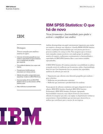 IBM SPSS Statistics: O que há de novo