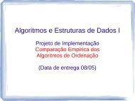 Algoritmos e Estruturas de Dados I