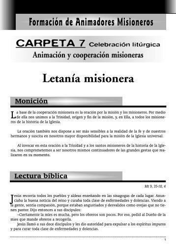 Letanía misionera - Obras Misionales Pontificias