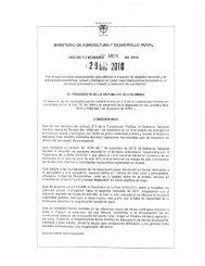 Decreto 4828 de 2010 - Ministerio de Agricultura y Desarrollo Rural