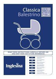 PaseoBebe.com | Manual de Instrucciones | Inglesina Classica ...