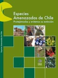 """libro """"Especies Amenazadas de Chile - Ministerio del Medio Ambiente"""