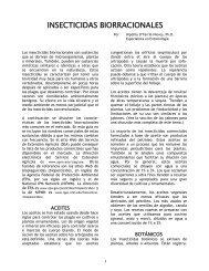 INSECTICIDAS BIORRACIONALES - UPRM