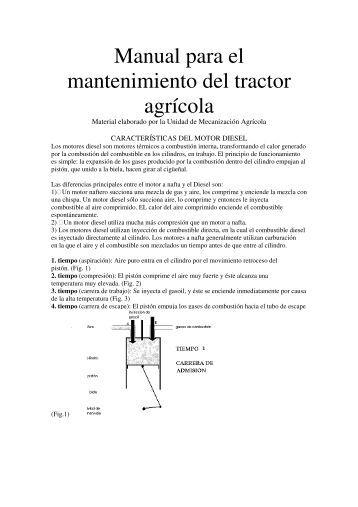 Manual para el mantenimiento del tractor agrícola