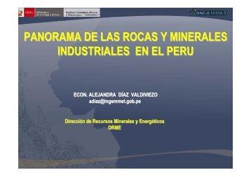 panorama de las rocas y minerales industriales en el peru